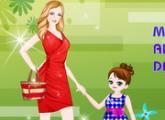 لعبة الام وابنتها والذهاب للمتجر الملابس الحديثه
