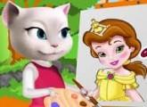 لعبة القطه انجيلا المتكلمة والرسامة 2017
