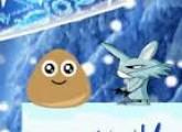 لعبة مغامرة Pou في الجليد