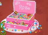 لعبة كيكة تحضير كيكة المجوهرات الثمينة للاميرة روز