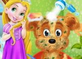 لعبة طفل ربانزل والحيوانات الأليفة