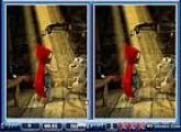 لعبة صاحبة الرداء الاحمر والاختلاف بين الصورتين
