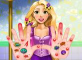 لعبة علاج رابونزيل اليد عند الطبيب
