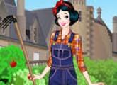 لعبة تلبيس سنووايت ملابس الزراعة
