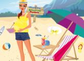 لعبة الأم و تنظيف شاطئ