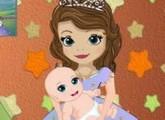 لعبة صوفيا ورعاية الطفل الصغير