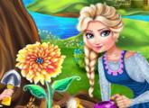 لعبة الملكة السا فى الحديقة