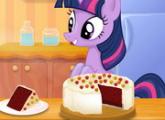 لعبة كعكة  الطبخ الشفق البريق المخملية الحمراء
