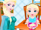لعبة الملكة السا ممرضة الاطفال