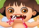 لعبة علاج اسنان دورا عند دكتور الاسنان