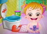 لعبة بيبى هازل وتنظيف الحمام اون لاين