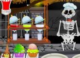 لعبة هالوين  مطعم مقبرة للكبار