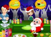 لعبة سانتا وحفل العصير