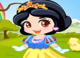 لعبة تلبيس الأميرة سنو وايت فى الغابات