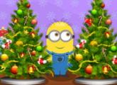لعبة لعبة العميل منيون وايجاد 6 فروق بشجرة الميلاد