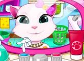 لعبة تنظيف اسنان القطه انجيلا اون لاين