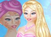 لعبة باربي و علاج الجلد