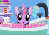 لعبة فقاعة حمام  الشفق البريق للاطفال
