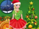 لعبة المجمدة إلسا اللباس عيد الميلاداون لاين