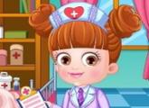 لعبة تلبيس بيبى هازل عند الطبيب