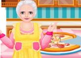 لعبة طبخ البيتزا مع الحجة