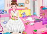 لعبة الفتاة زهرة و تنظيف الغرفة