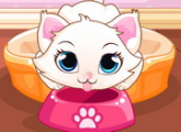لعبة رعاية القطة كيتى البيضاء