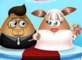 لعبة Pou في حفل زفاف فتاةالحديثه