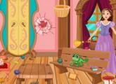 لعبة ترتيب منزل ربانزل