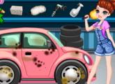لعبة غسيل السيارة المتسخة