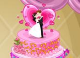 لعبة كعكة الزفاف اللذيذة