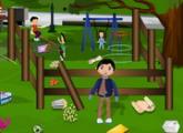 لعبة  تنظيف حديقة بارك الأطفال