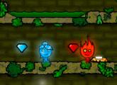 لعبة ثلج ونار فى الغابة
