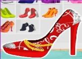 لعبة تصميم حذاء الأميرات للبنات