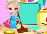 لعبة الأميرة إلسا النظيفة للبنات