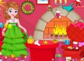 لعبة الأميرة صوفيا تنظيف عيد الميلاد