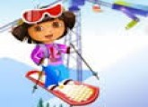 لعبة تزلج دورا وموزو على الثلج الجديدة