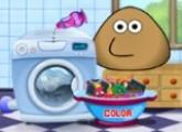 لعبة غسل ملابس بو في الغسالة