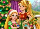 لعبة رابونزيل الأم شجرة عيد الميلاد