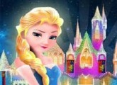 لعبة بناء قلعة السا ملكة الثلج