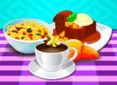 لعبة الطبخ حبوب الحليب والحلوى