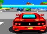 لعبة سباق السيارات الحمراء