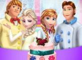 لعبة طبخ كعكة زواج السا ملكة الثلج