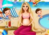 لعبة ترتيب  الاميرة ربانزل الحامل المسبح