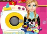 لعبة آنا تغسل الملابس