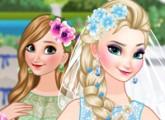 لعبة تلبيس العروسة السا ملكة الثلج ووصيفتها انا