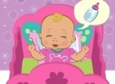 لعبة رعاية الطفل الرضيع في الحضانة