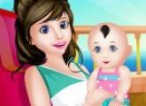 لعبة توليد الام الحامل الطفل الصغير