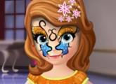 لعبة رسم التاتو علي وجه الاميرة الجميلة صوفيا